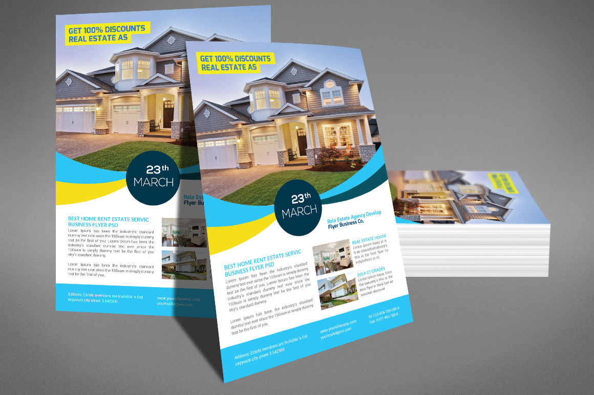 Real Estate Flyer Psd example image 4