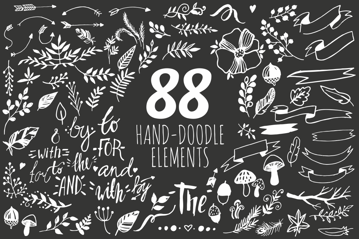 Hand-doodles elements (eps, ai, png) example image 5