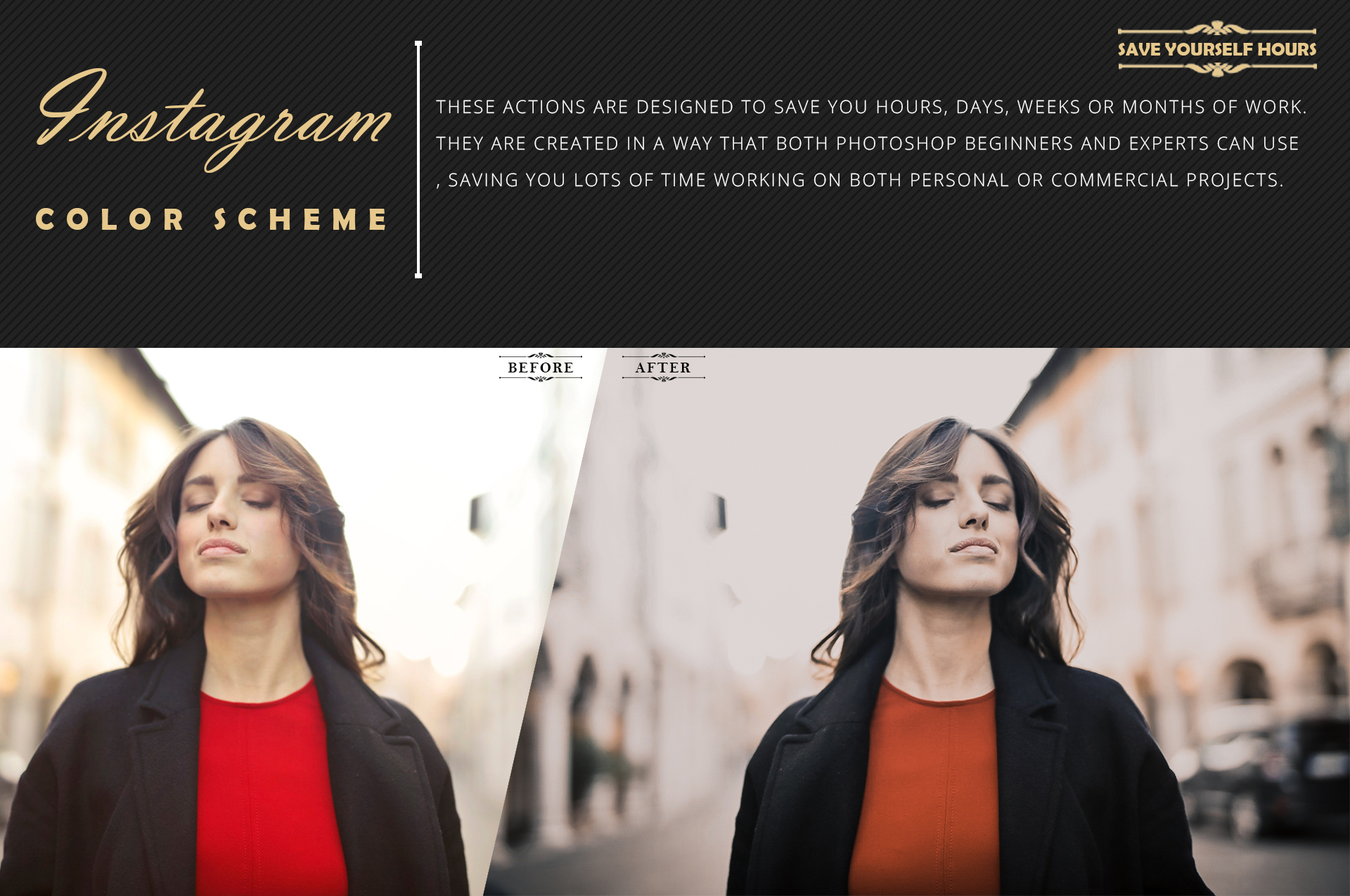Instagram Color Grading photoshop actions Filter example image 7