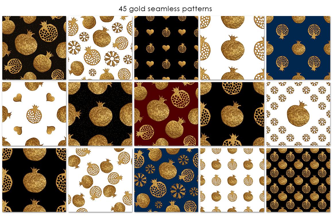 GOLD POMEGRANATE set example image 2