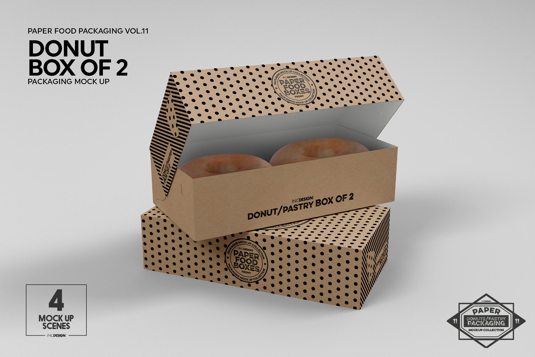 VOL.11 Food Box Packaging MockUps example image 9