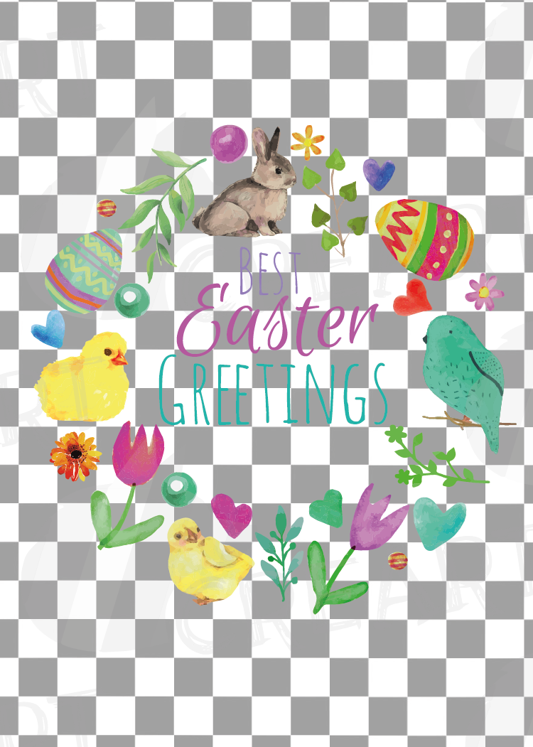 Easter greeting cards, 6 Happy Easter cards, colorful cards example image 14