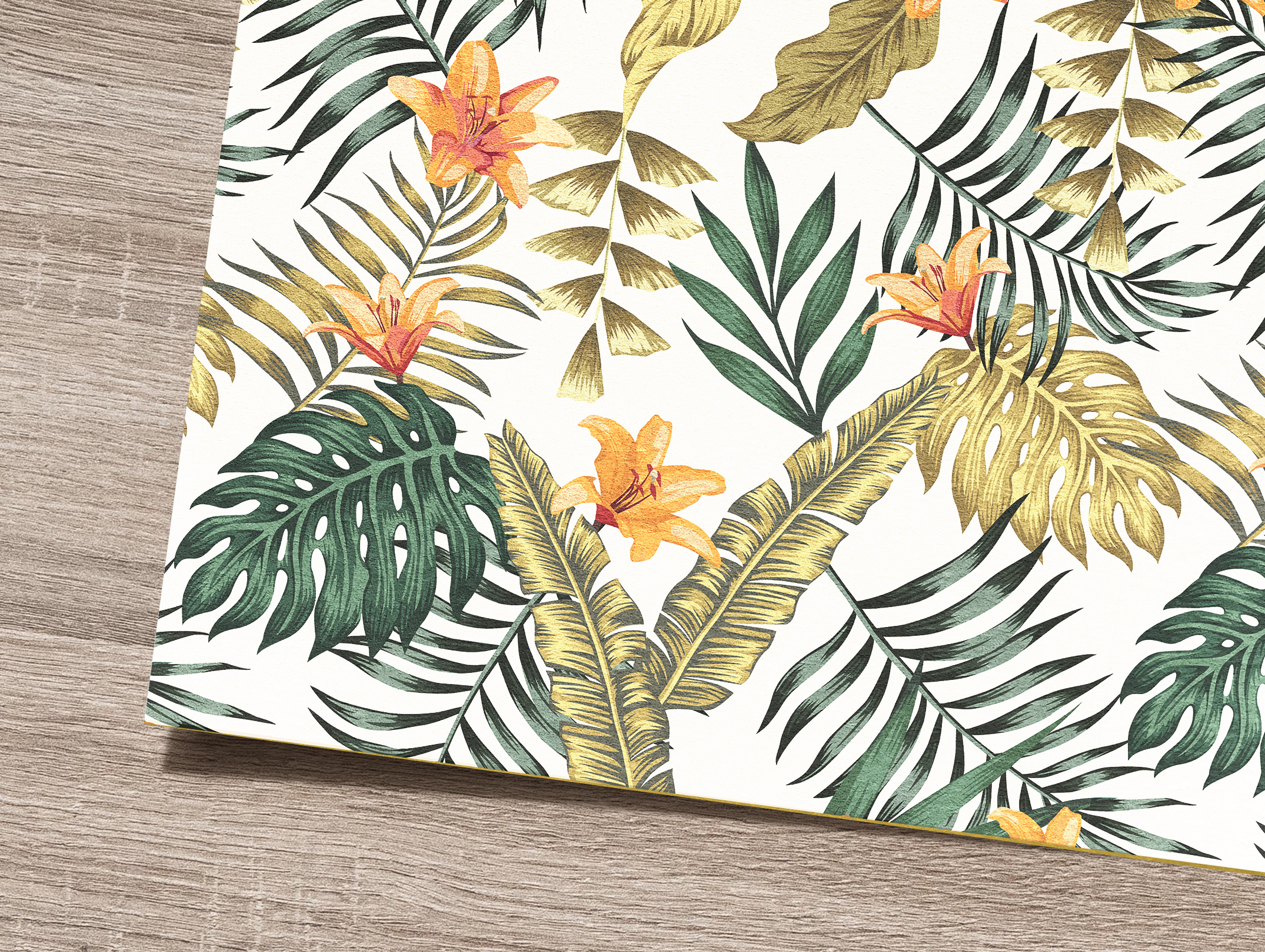 Tropical flowers and leaves pattern. Seamless design. example image 10
