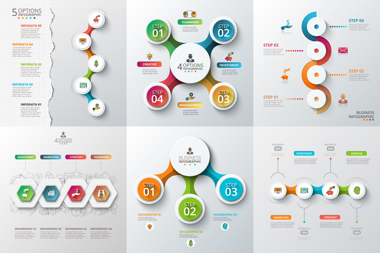 Infographic elements bundle v.01 example image 6