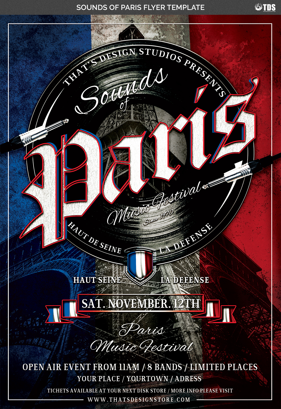 Sounds of Paris Flyer Template example image 4