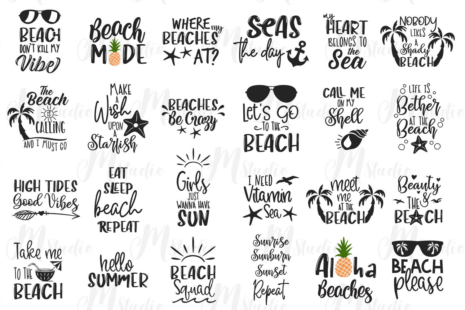 Beach SVG Bundle, 24 Listings Inside. example image 2