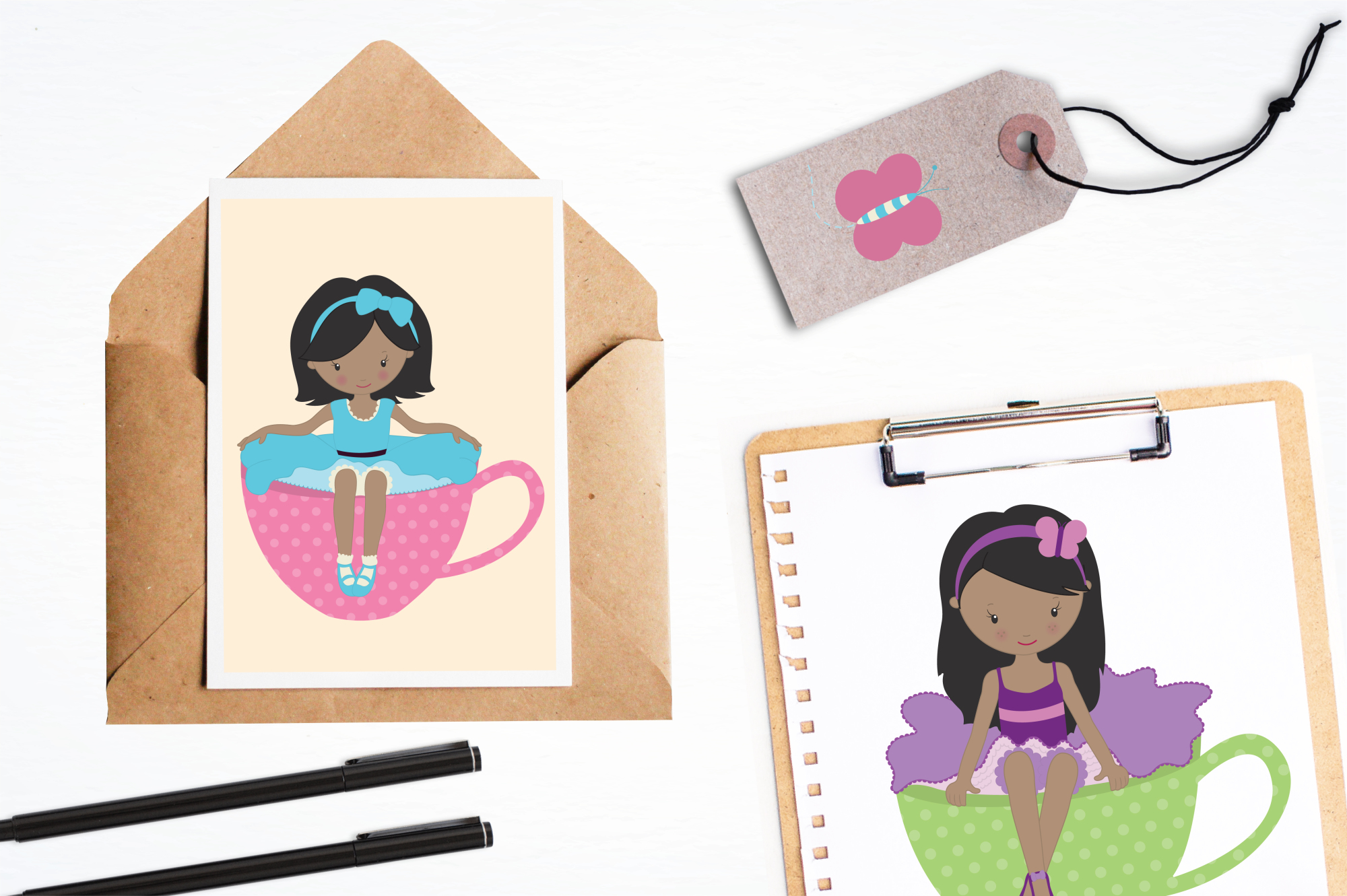 Tea Tot Girls graphics and illustrations example image 4