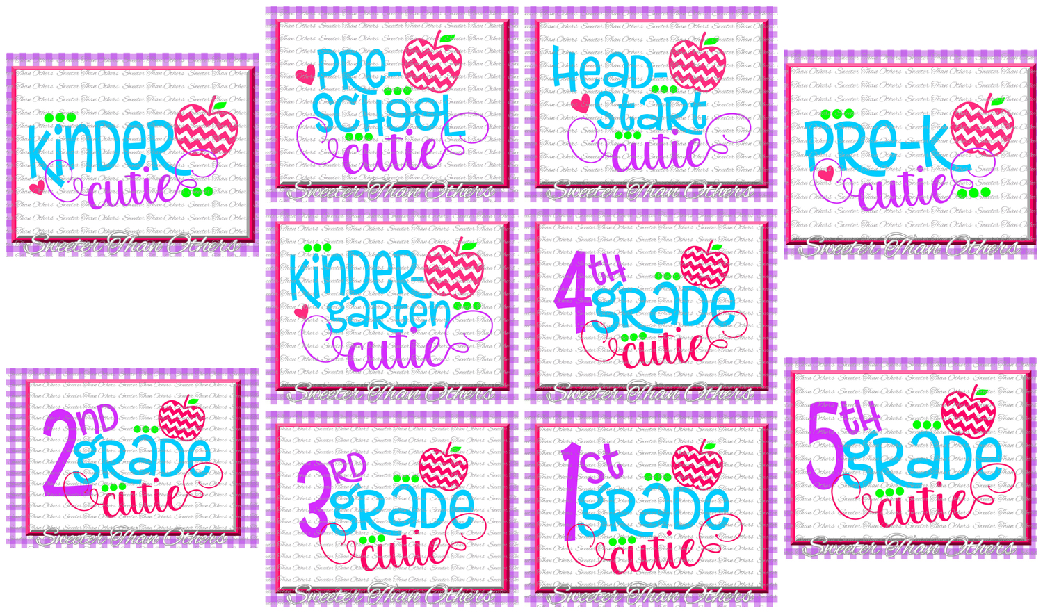 School Cutie SVG Bundle Kindergarten First Day of School example image 1