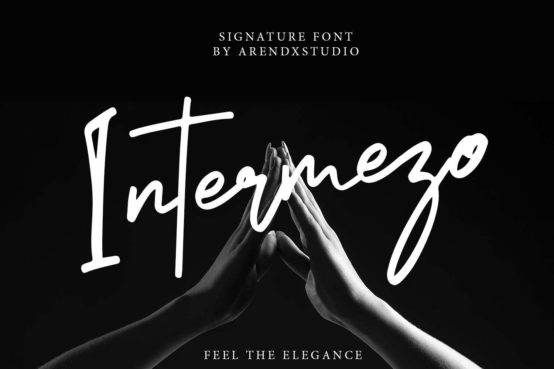 Intermezo Signature Font example image 1