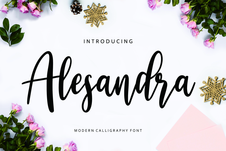 Alesandra Modern Calligraphy example image 1