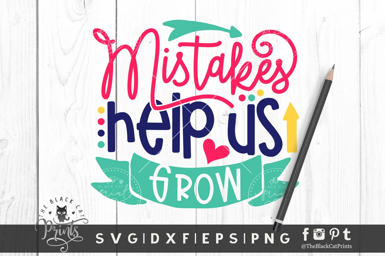 Mistakes Help Us Grow SVG DXF EPS PNG example image 1