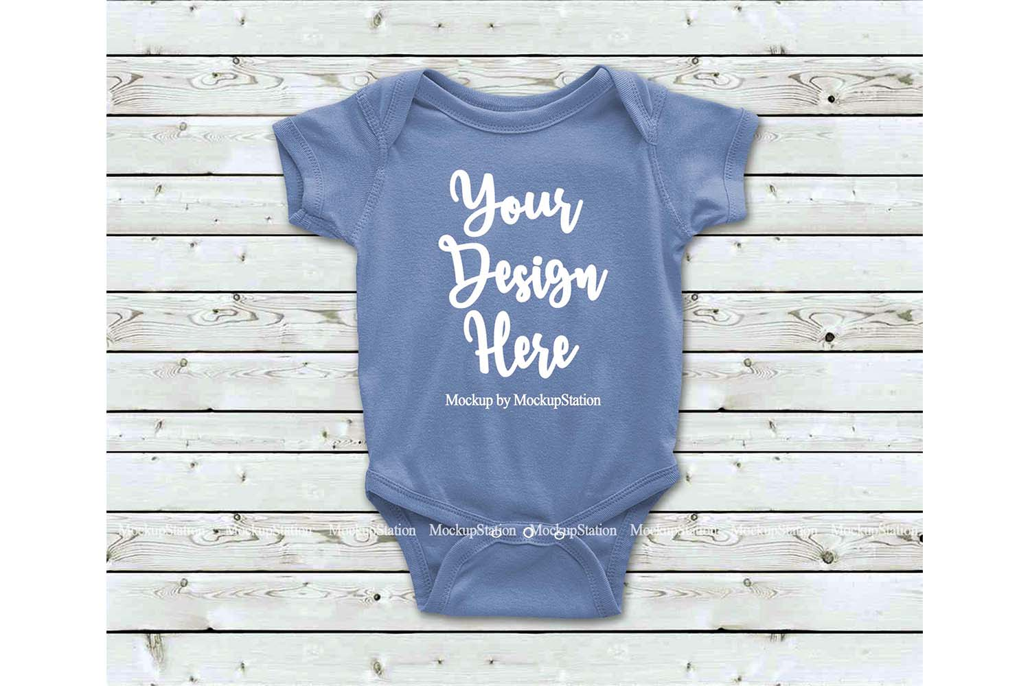 Basic Baby Bodysuit Mockup Bundle, Toddler Newborn One Piece example image 3