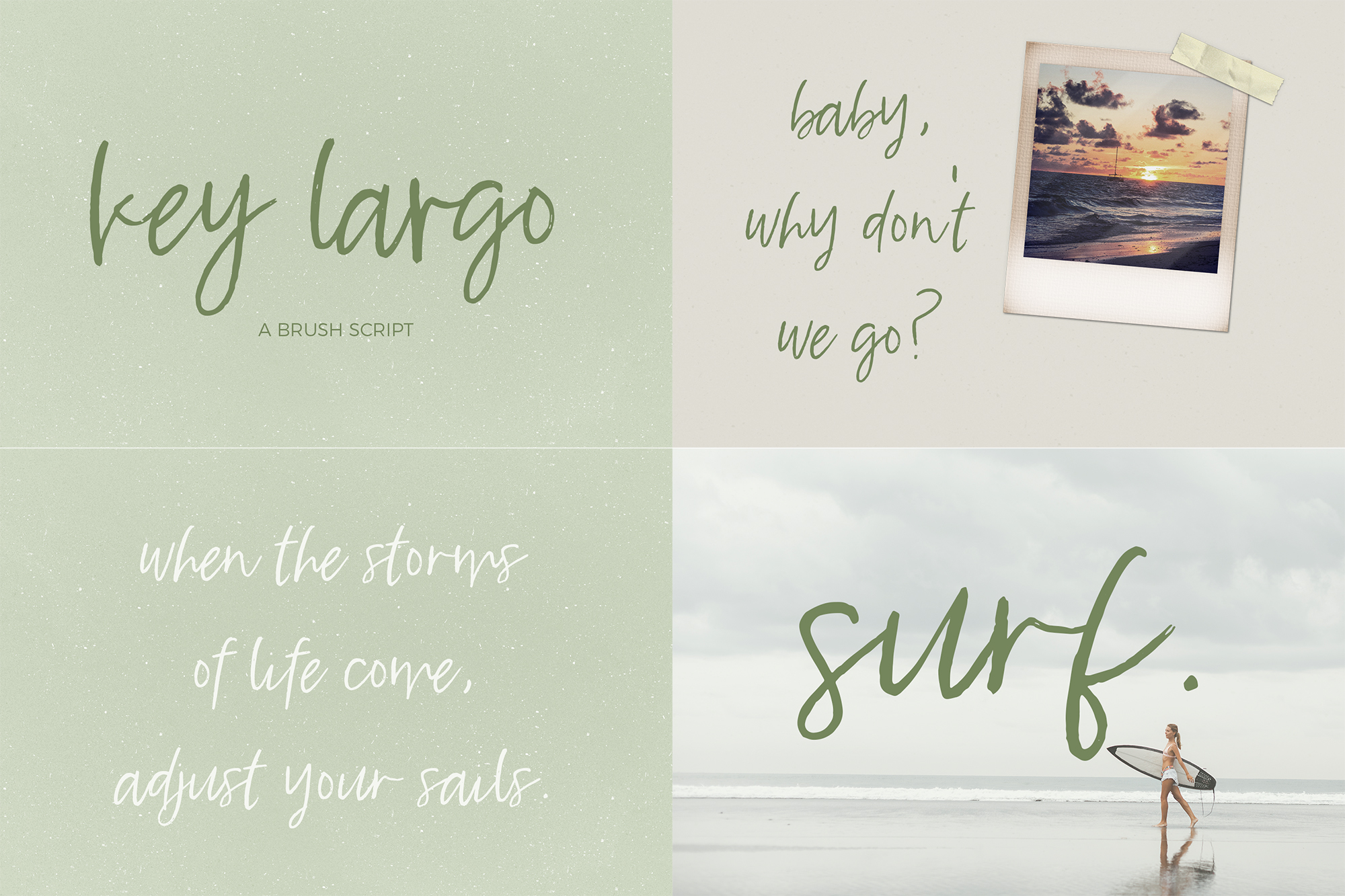 The Brush Font Bundle example image 5