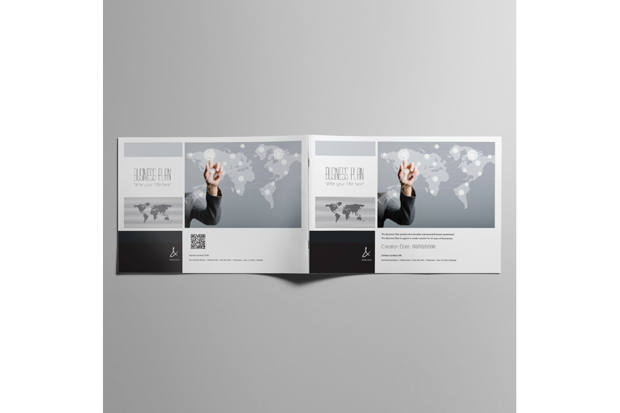 53 Pages Full Business Plan Template - A4 Landscape example image 3