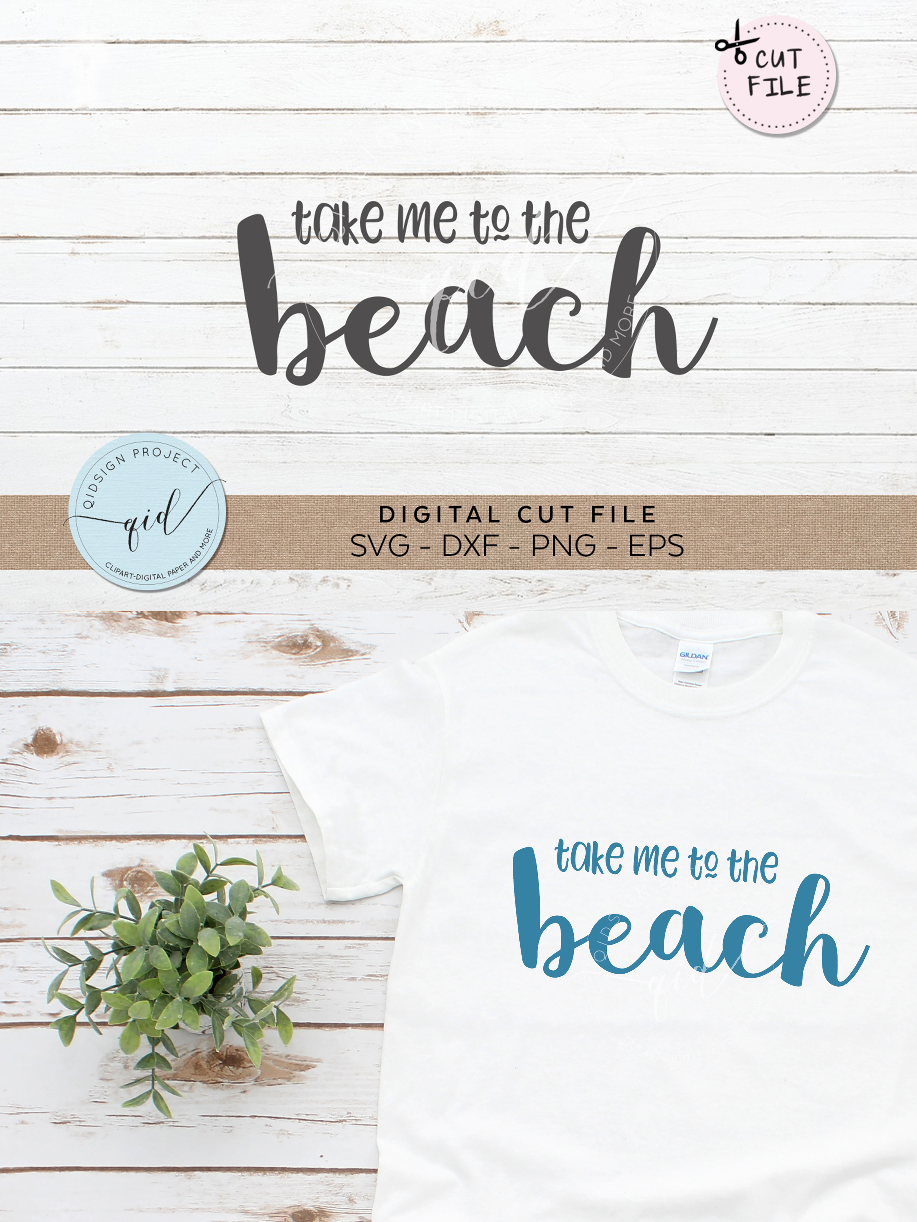 Take me to the beach SVG DXF PNG EPS example image 2
