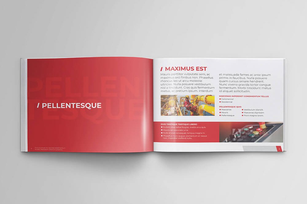 Offshore Oil and Gas Booklet Design Template example image 6