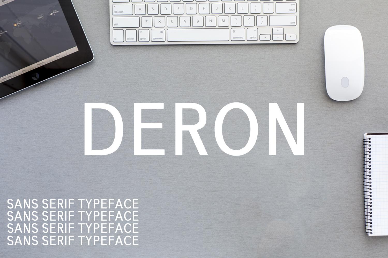 Deron Sans Serif Typeface example image 1