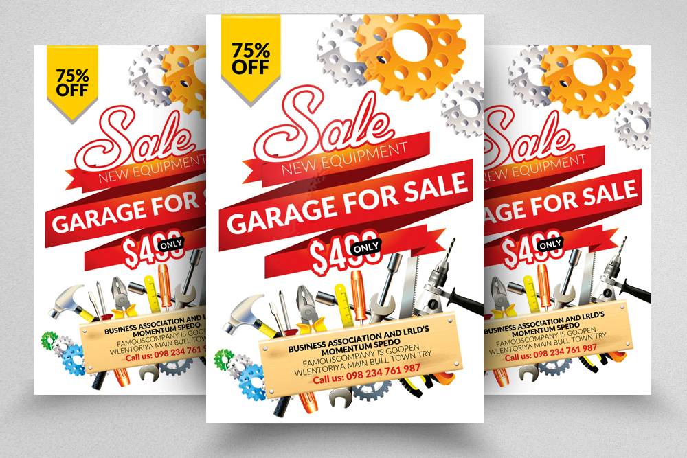 10 Garage Sale Flyer Bundle example image 3