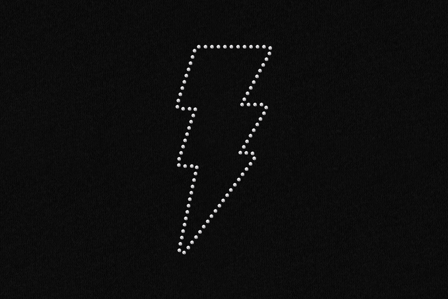 Rhinestone Lightning Bolt SVG File Template example image 3