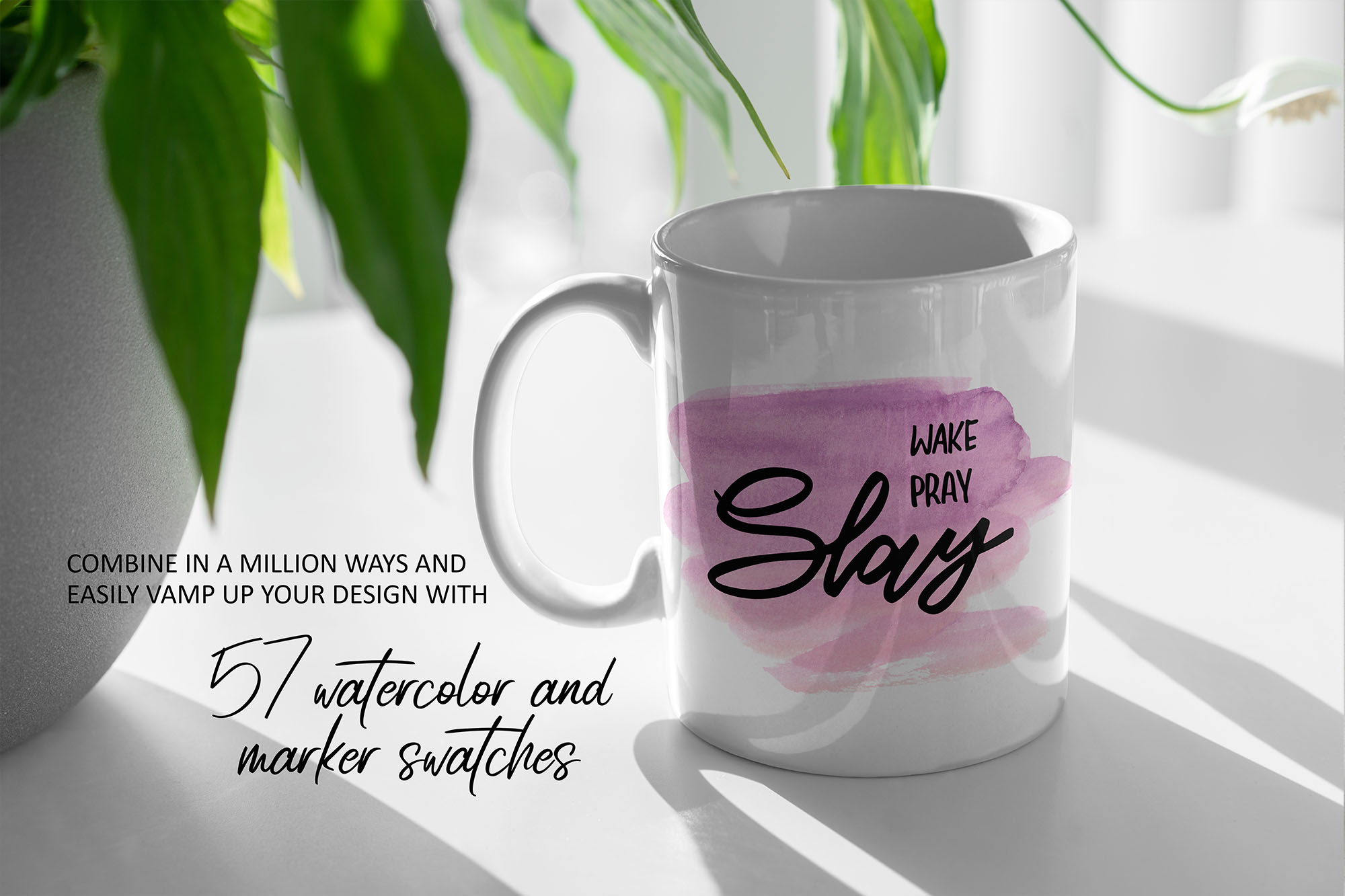 Girl Boss Hand lettered Quote & Extras! example image 2