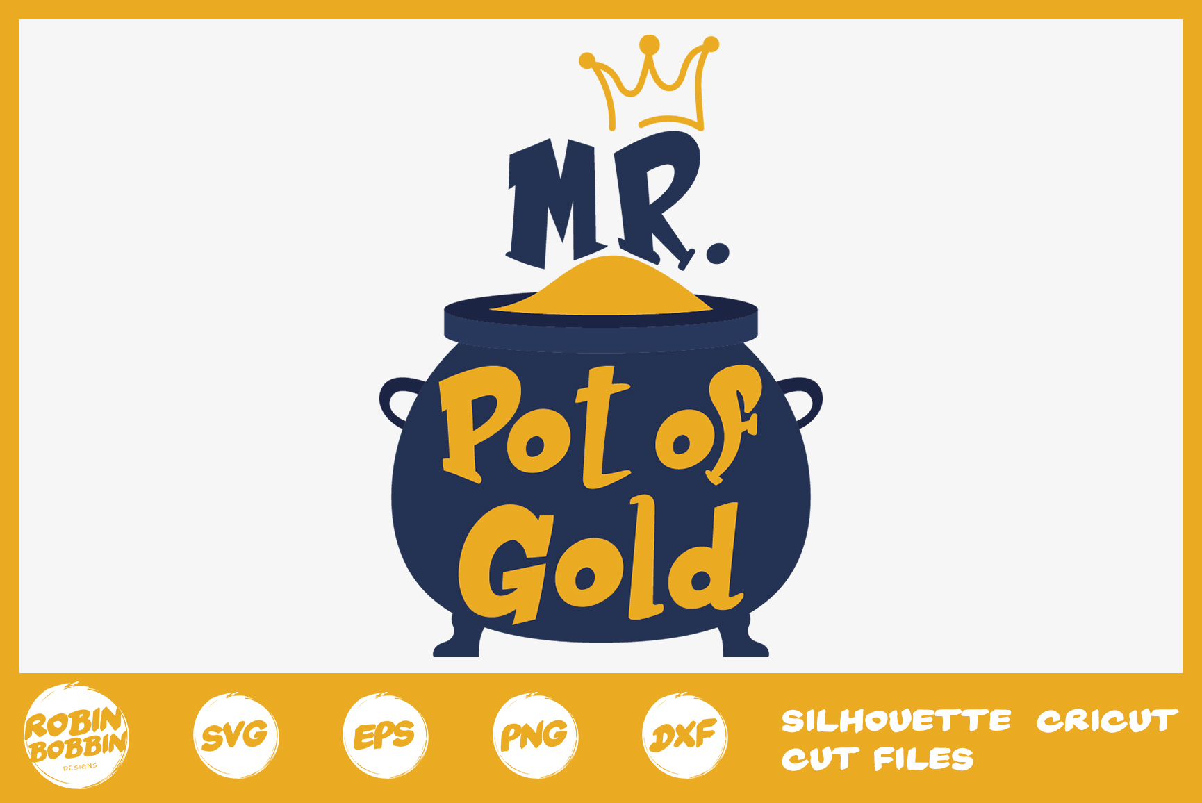 St. Patricks Day SVG, Mr. Pot Of Gold SVG, Crafters SVG example image 1