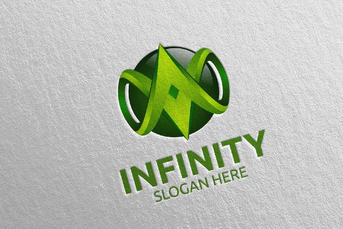 Infinity loop logo Design 23 example image 5