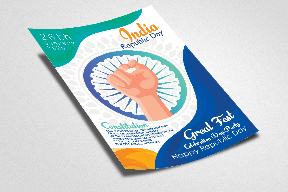 Indian Rebublic Day Flyer Template example image 2