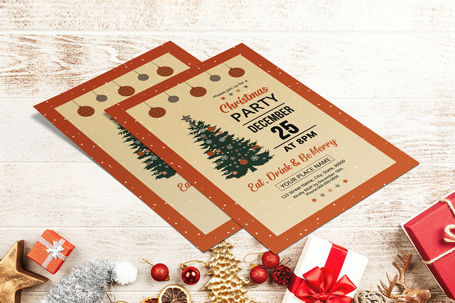 Christmas Party Flyer example image 2