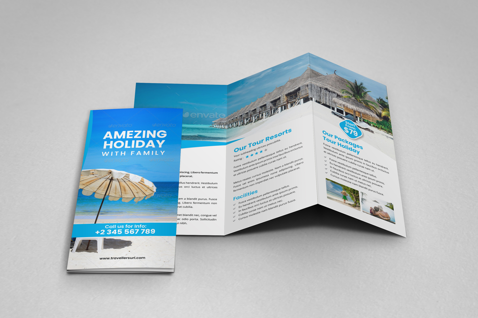 Travel Resort Trifold Brochure v3 example image 10