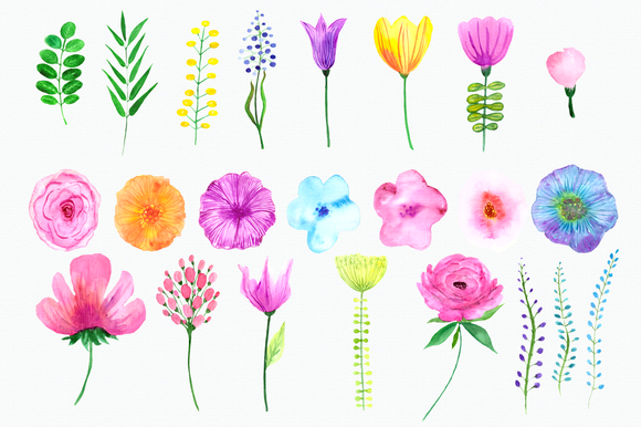 Flowers of the Valley Clip Art Set example image 2