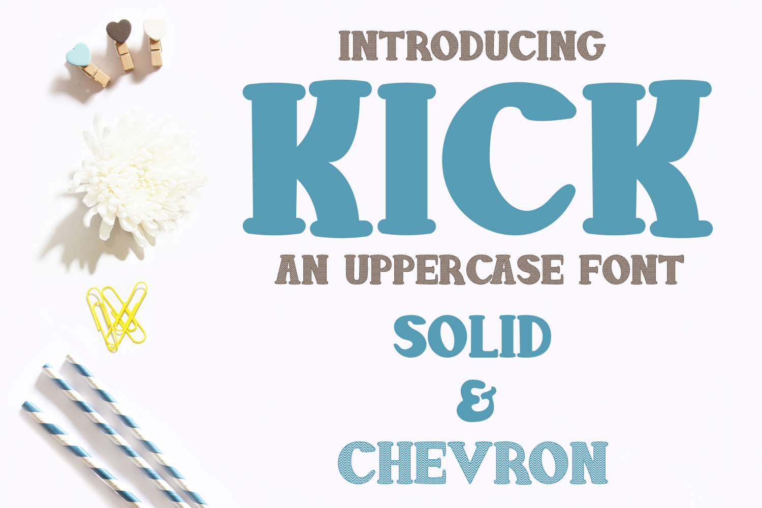 Kick Font - Solid and Chevron example image 1