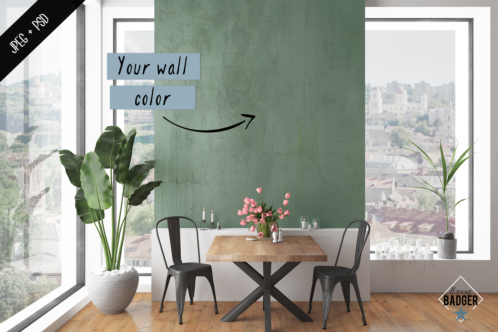 Interior mockup - frame & wall mockup creator example image 6