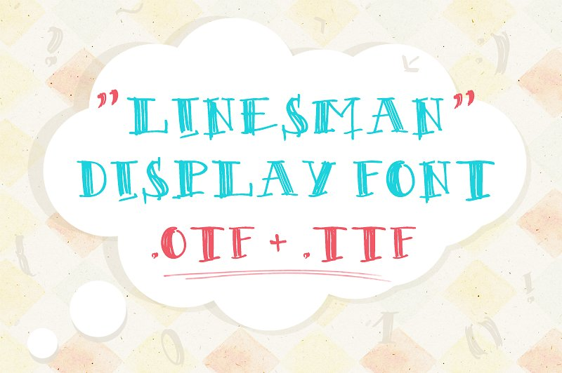 Linesman Font example image 3
