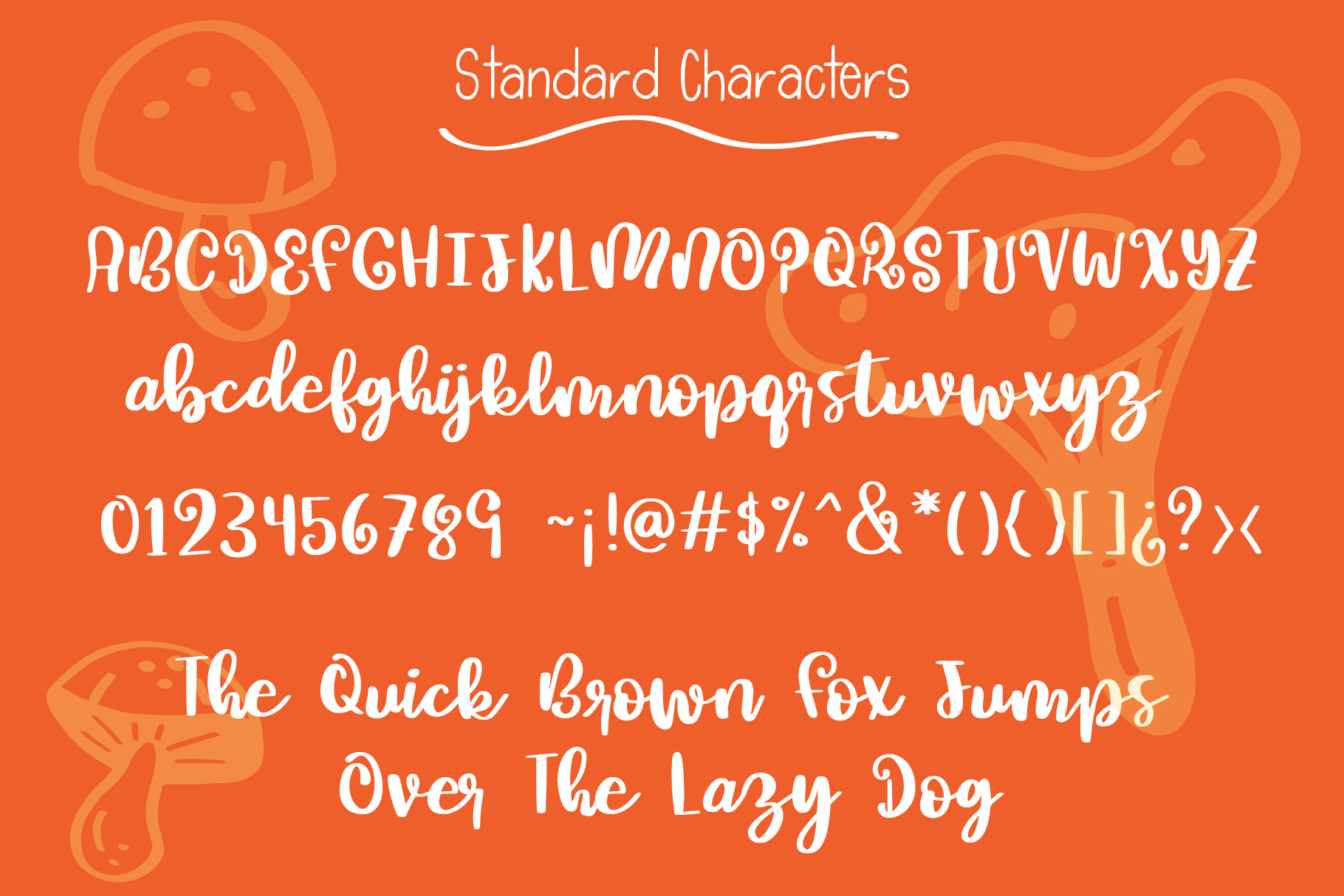 Mushroom Growing Script Font example image 3