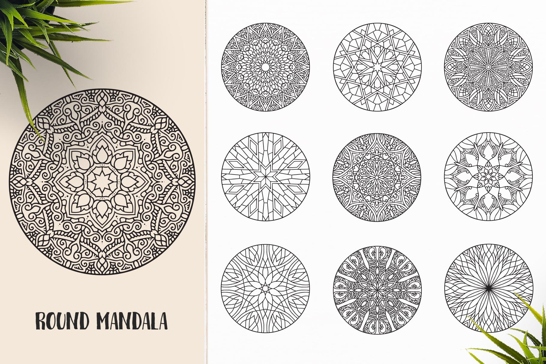 530 Vector Mandala Ornaments Bundle example image 26