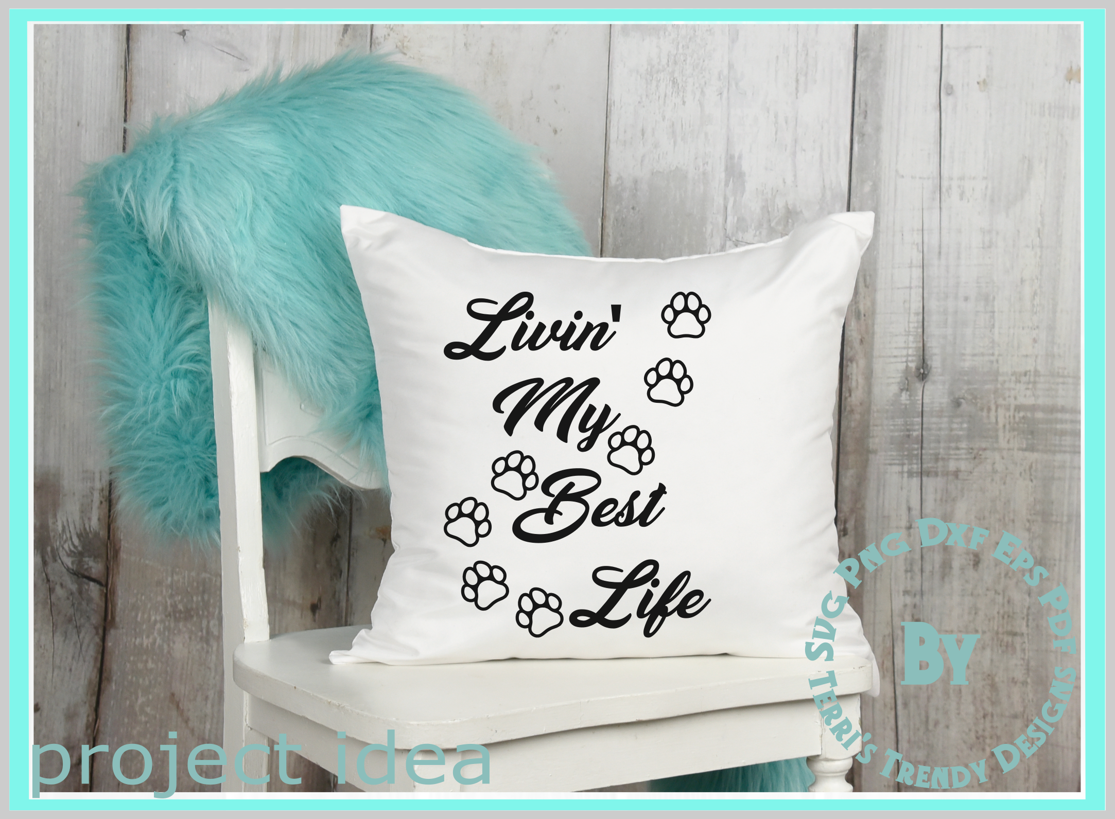 Cat lover livin' the best life cute paws svg png dxf eps pdf example image 7