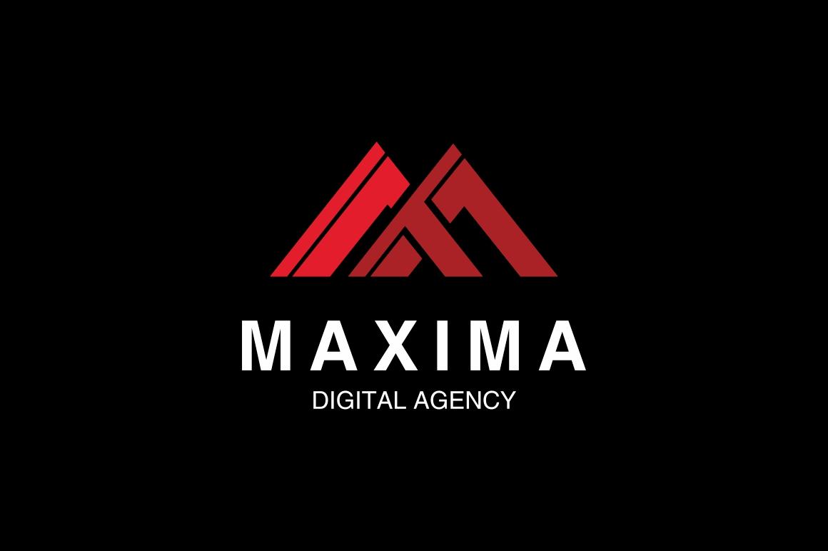 Maxima M Letter Logo example image 2