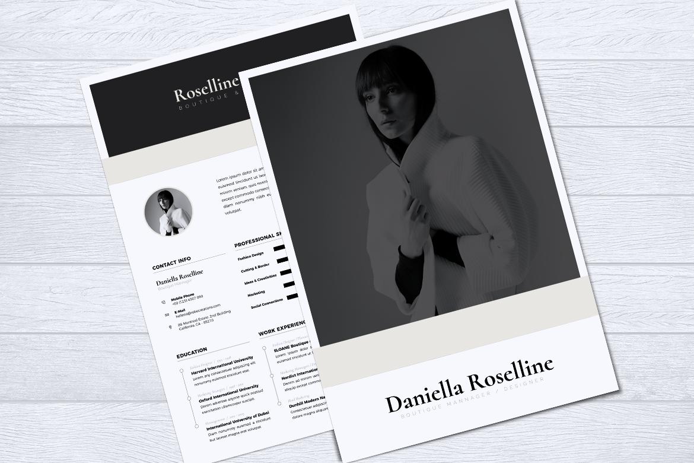 Minimalist CV / Resume Template Vol. 05 example image 3