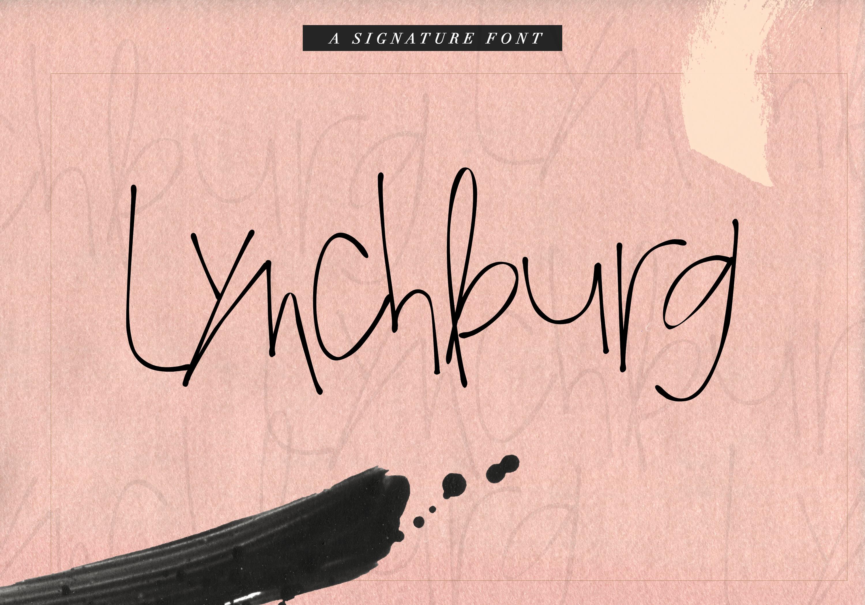 Lynchburg - Messy Handwritten Font example image 1