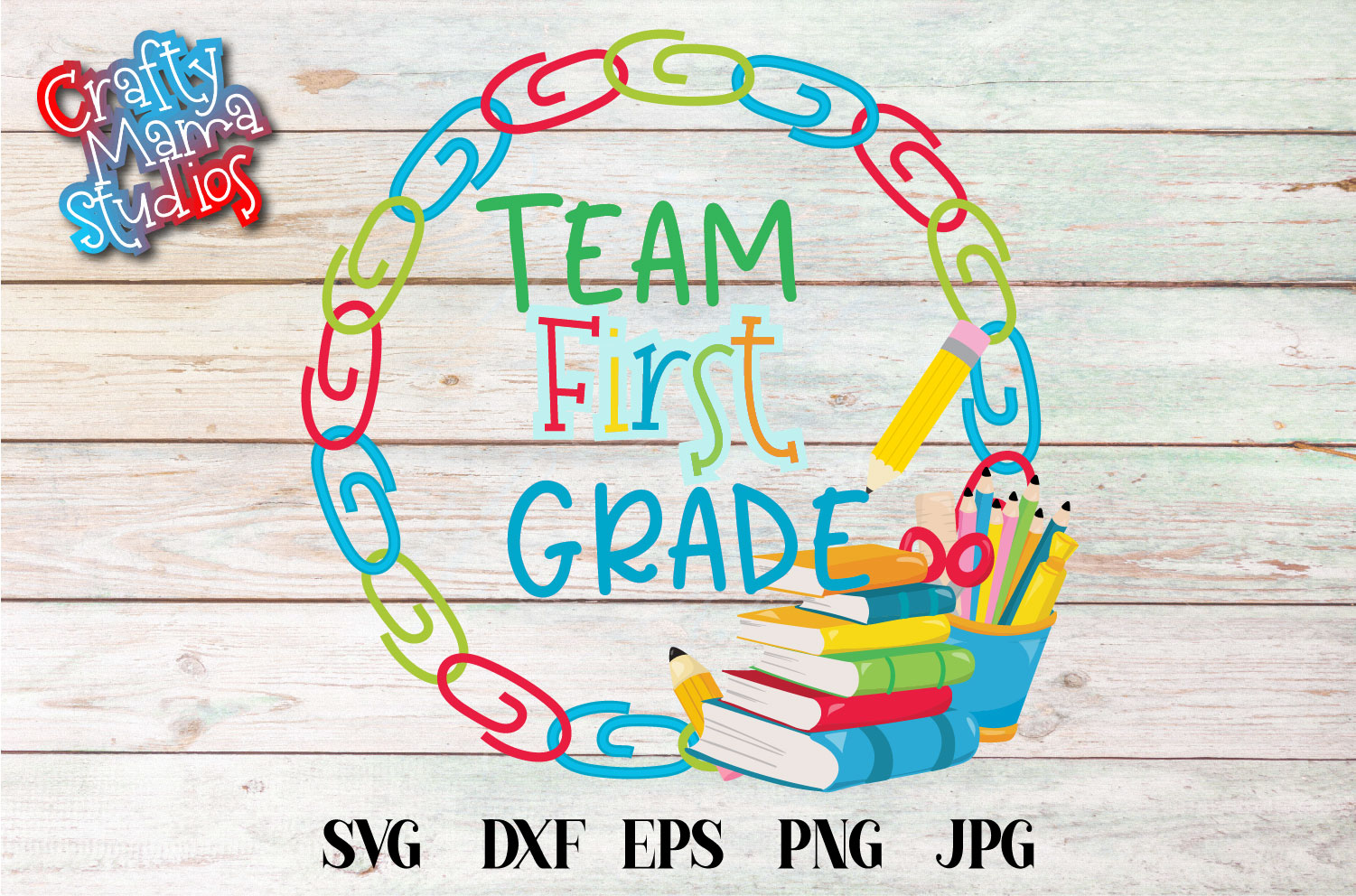 Team First Grade SVG, First Grade Tribe Sublimation example image 1