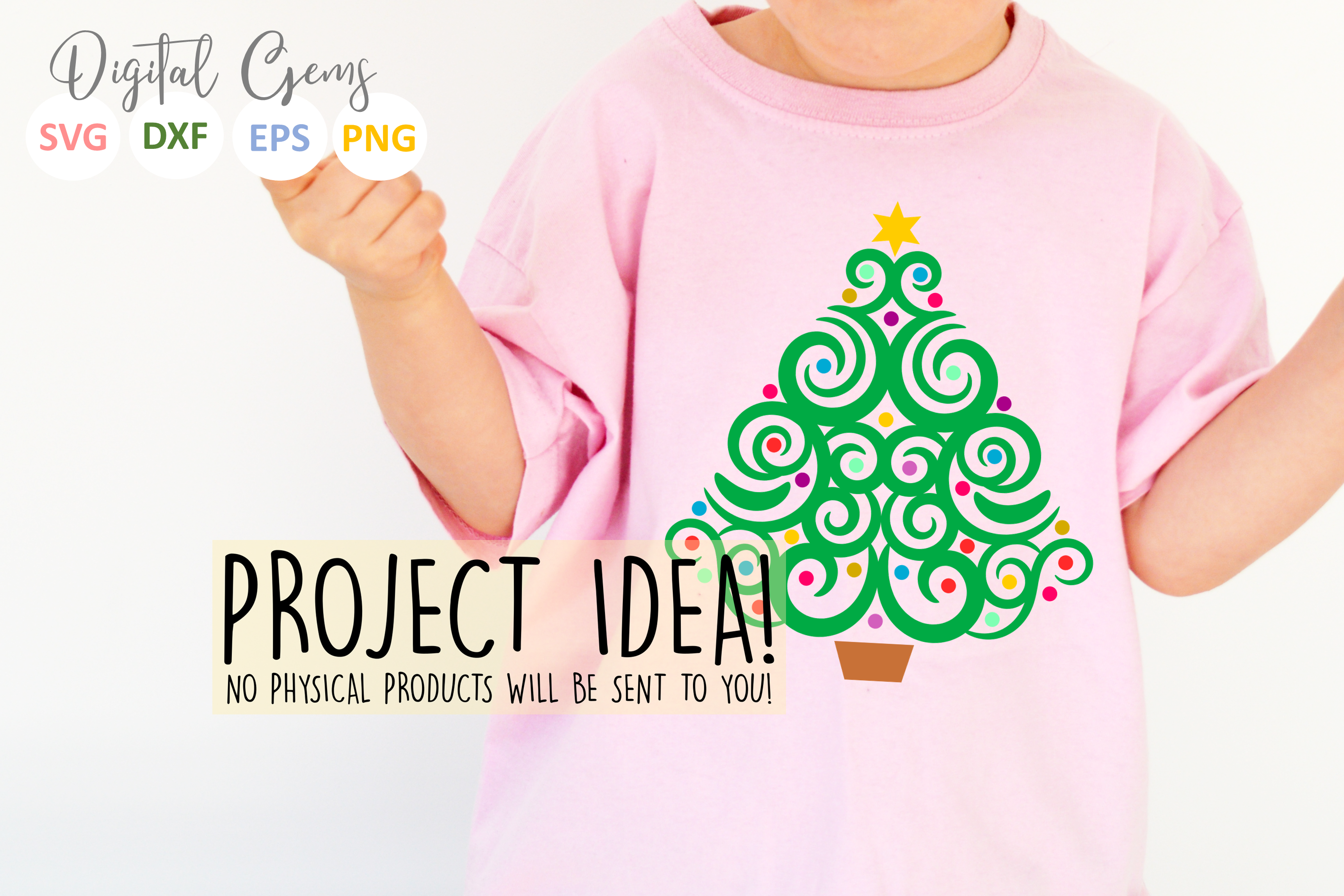 Christmas tree SVG / EPS / DXF / PNG Files example image 2