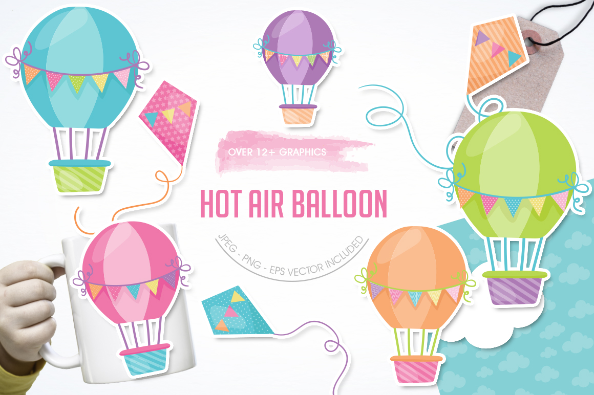 Hot Air Balloon graphic and illustrations example image 1