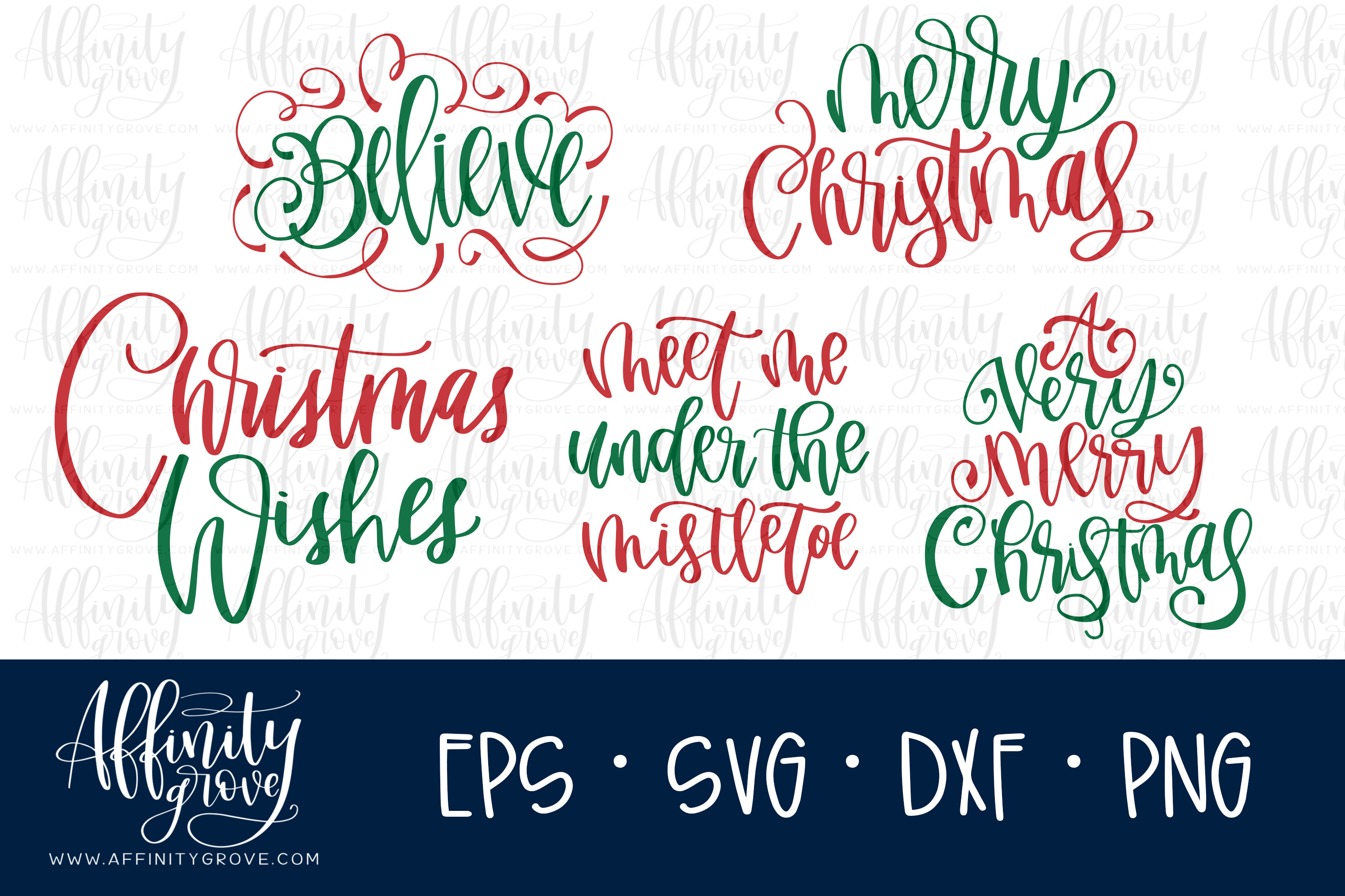 Hand lettered Christmas SVG Bundle! example image 1
