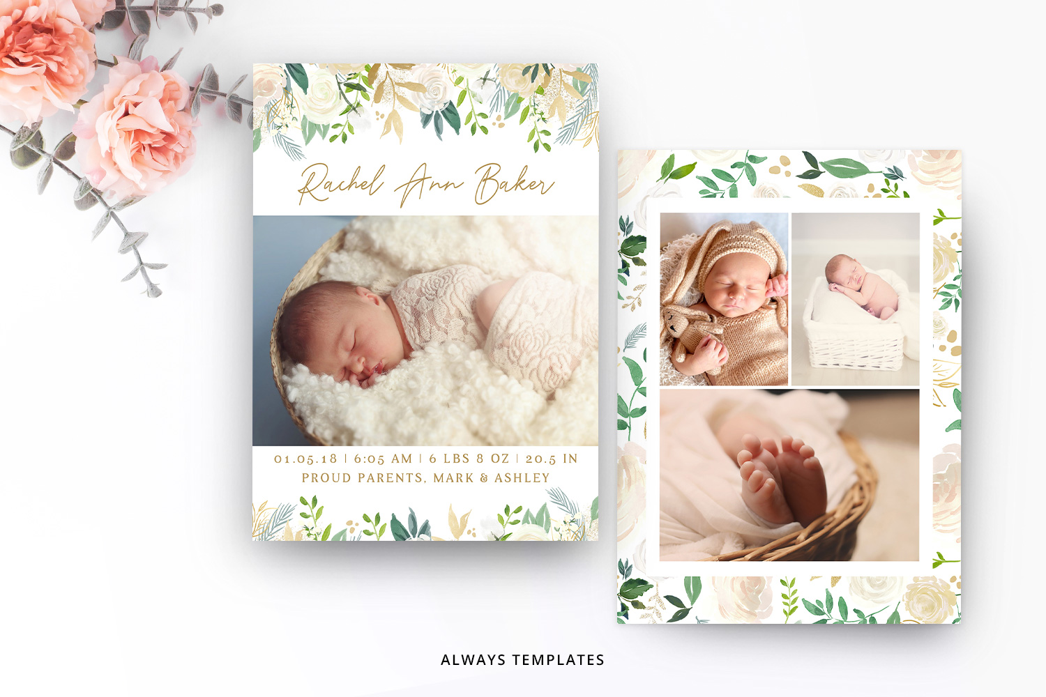 Birth Announcement Template BA010 example image 1