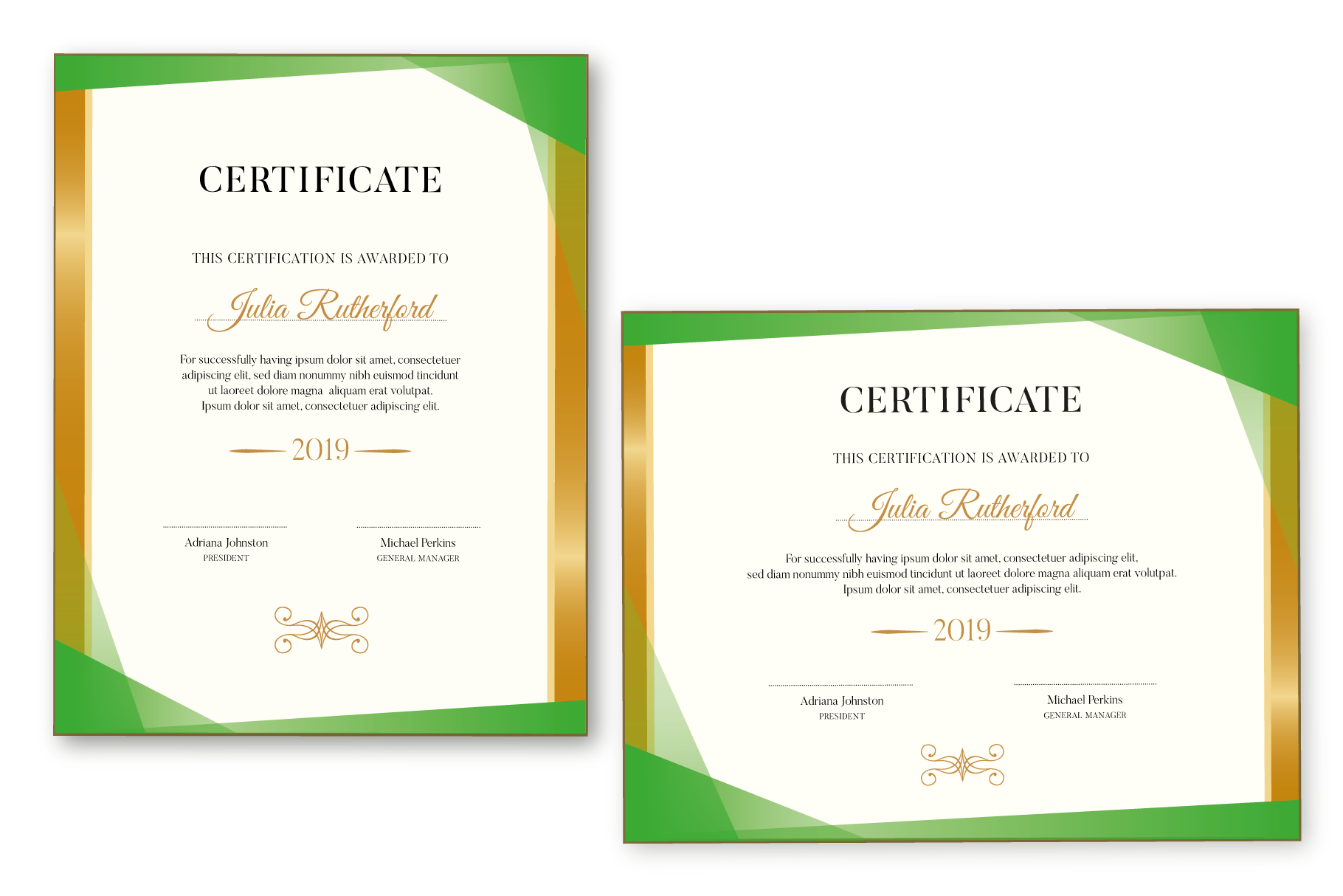 Certificate Template Editable example image 3