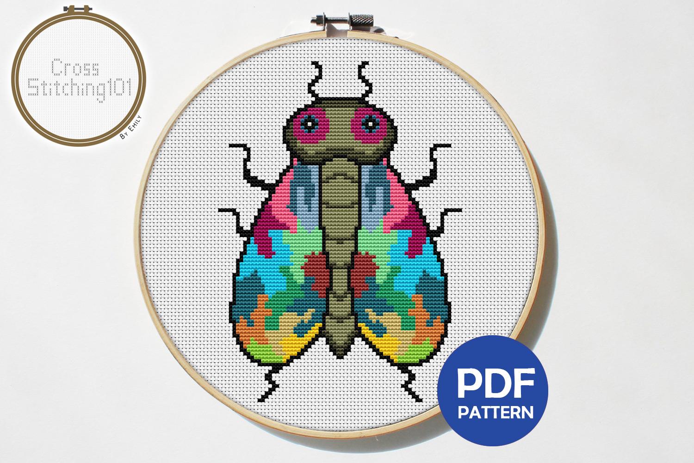 Bee Cross Stitch Pattern PDF example image 1