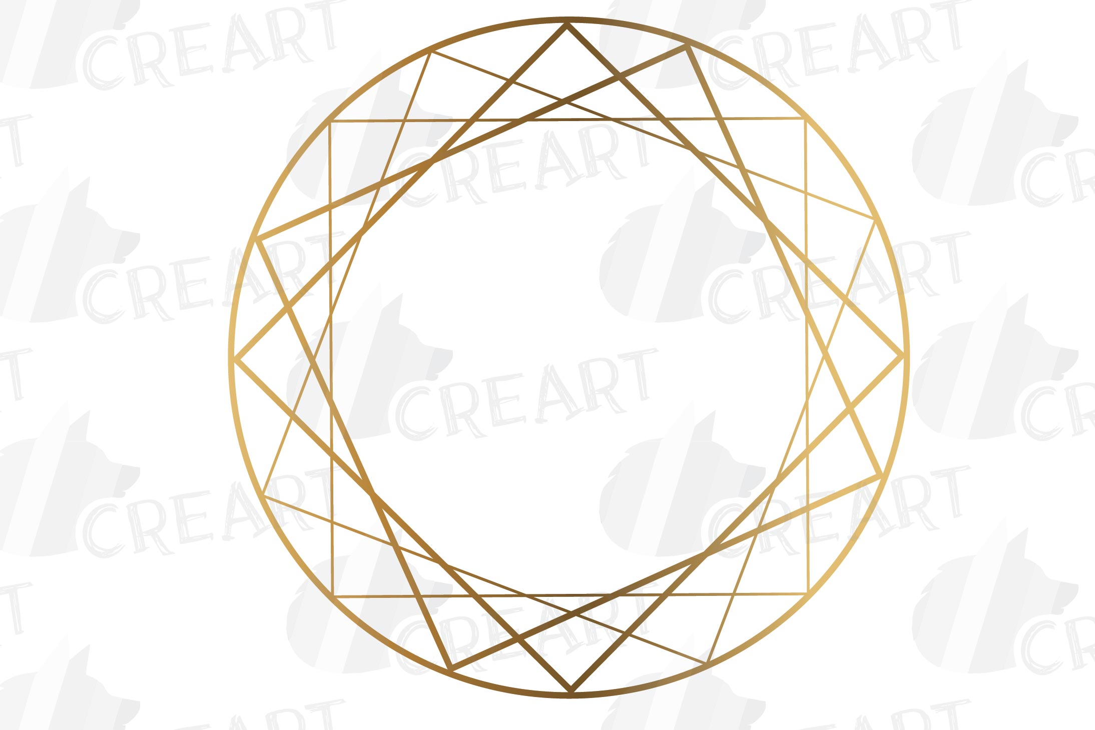 Elegant wedding geometric golden frames, lineal frames svg example image 13
