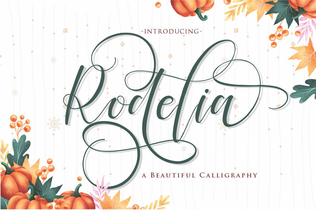 Rodelia | A Beautiful Calligraphy example image 1