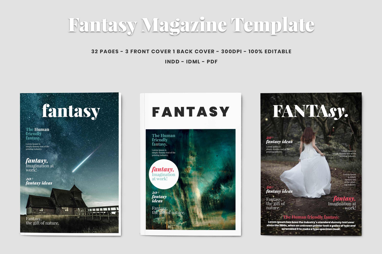 Fantasy Magazine Template example image 1