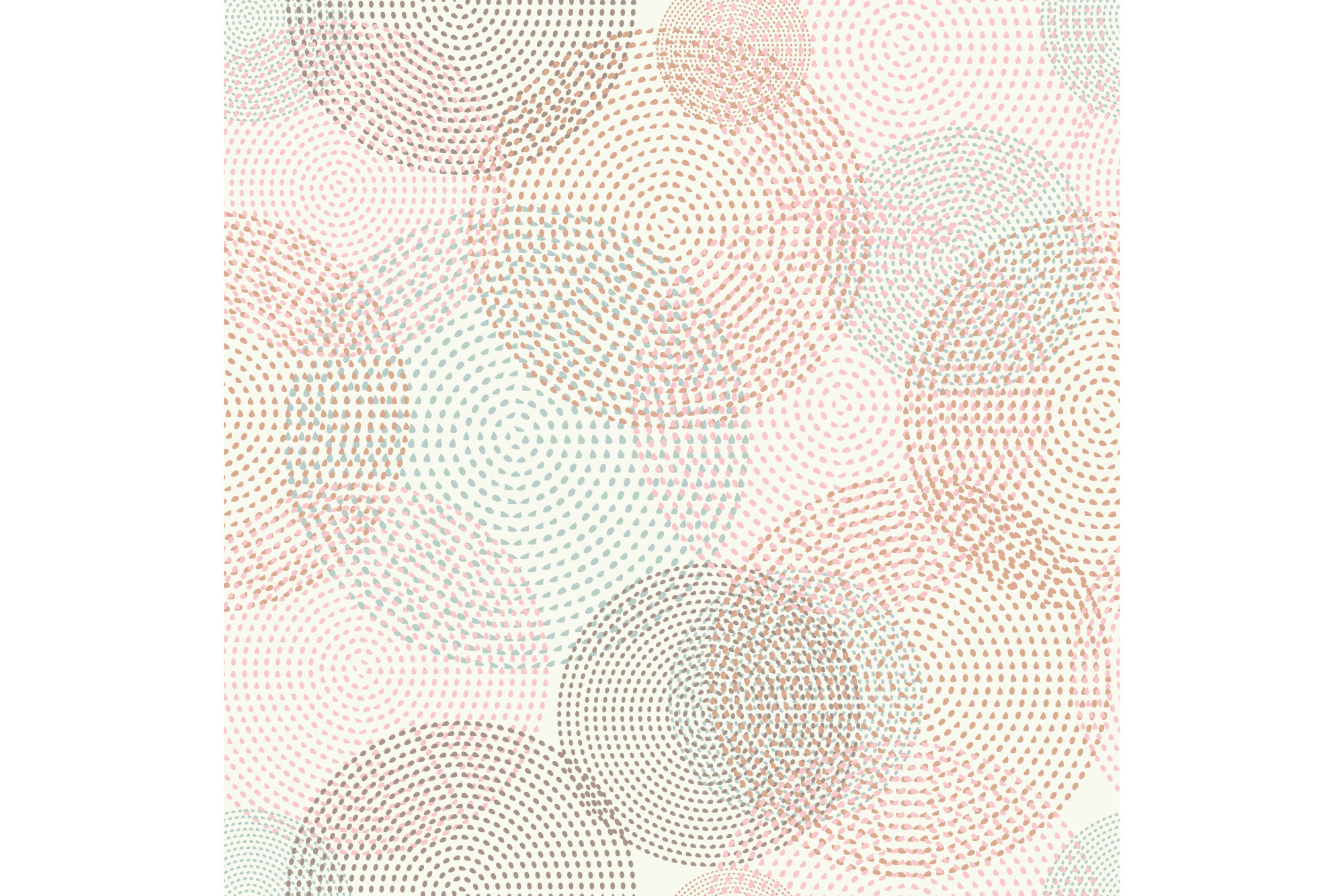 Seamless vector background with decorative circles. Print. Cloth design, wallpaper. example image 1